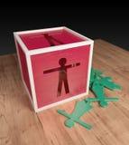 Chauvinism. Sex discrimination wooden toy Stock Photos