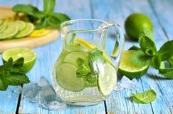Chaux d'été et limonade de menthe image libre de droits
