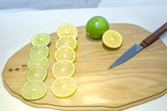 Chaux et citron de tranche Photo stock