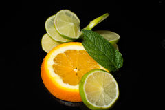 - Chaux - menthe orange Photo libre de droits