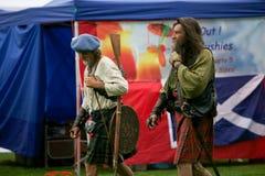 Chavales escoceses. Foto de archivo libre de regalías