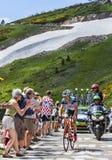 骑自行车者西尔万Chavannel 免版税库存照片