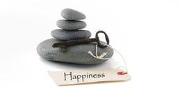 Chave à felicidade imagem de stock