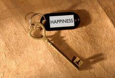 Chave à felicidade Imagens de Stock