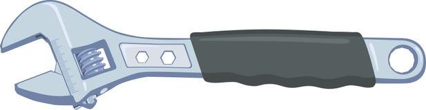 Chave ajustável ilustração stock