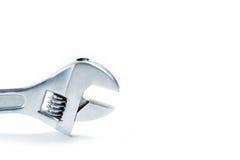 Chave ajustável isolada no fundo branco Imagem de Stock