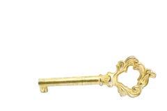 chave antiga dourada preciosa Fotos de Stock