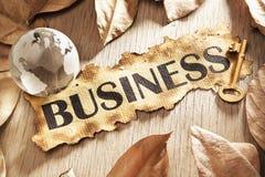 Chave ao conceito do negócio global Imagem de Stock Royalty Free