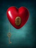 Chave ao coração Foto de Stock Royalty Free