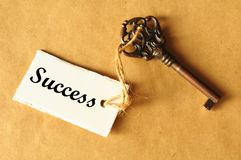 Chave ao sucesso Fotos de Stock Royalty Free