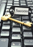 Chave ao sucesso Imagens de Stock