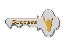 Chave ao sucesso Fotografia de Stock