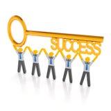 Chave ao sucesso Imagem de Stock