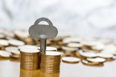 Chave ao sucesso financeiro Imagem de Stock