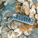 Chave ao sucesso no negócio (versão do dólar na perspectiva) fotografia de stock royalty free