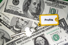 Chave aos lucros Foto de Stock Royalty Free