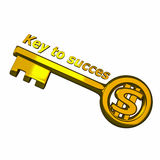 Chave aos succes Foto de Stock Royalty Free