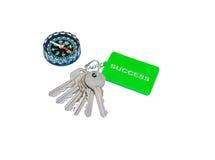 A chave com etiqueta writed o sucesso para o conceito do negócio Imagens de Stock