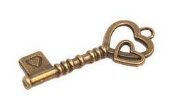 Chave com forma do coração Fotos de Stock Royalty Free