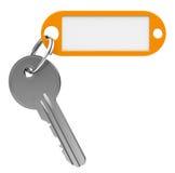 Chave com keychain Foto de Stock