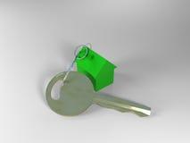 Chave com porta-chaves da casa Fotografia de Stock Royalty Free