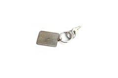 Chave com porta-chaves do retângulo imagem de stock