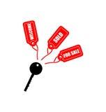 Chave com Tag Imagens de Stock