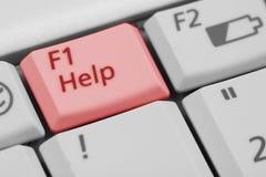 Chave da ajuda F1 Fotos de Stock