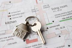 Chave da casa no anel Imagem de Stock