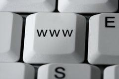 Chave da fantasia de WWW em um computador do PC Fotos de Stock