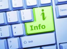 Chave da informação Foto de Stock Royalty Free