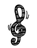 Chave da música Imagens de Stock