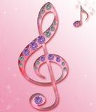 Chave da música do violino Foto de Stock Royalty Free