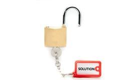 Chave da solução Fotografia de Stock