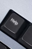 Chave de ajuda do computador Foto de Stock