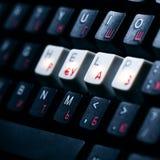 Chave de ajuda do teclado fotografia de stock