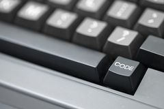 Chave de código - tiro próximo Foto de Stock