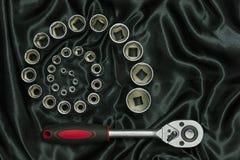 Chave de chave inglesa do soquete Imagens de Stock