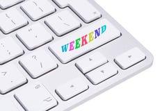 Chave de computador - dias da semana - fim de semana fotos de stock royalty free