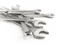 Chave de encaixe e chave inglesa da maxila Foto de Stock Royalty Free