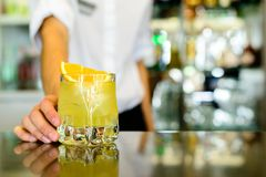 Chave de fenda, cocktail alcoólico forte foto de stock