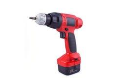 Chave de fenda elétrica vermelha Fotografia de Stock Royalty Free