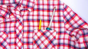 Chave de fenda no bolso da camisa Fotografia de Stock