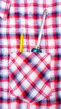 Chave de fenda no bolso da camisa Foto de Stock