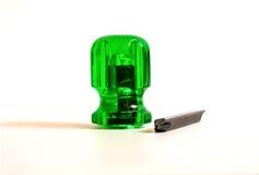 chave de fenda pequena verde Foto de Stock Royalty Free