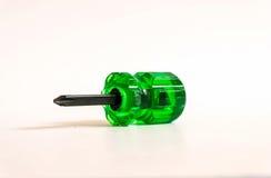 chave de fenda verde pequena Imagem de Stock