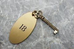 Chave de quarto do hotel Imagens de Stock