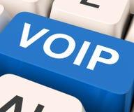 A chave de Voip significa a voz sobre o protocolo IP Fotos de Stock Royalty Free