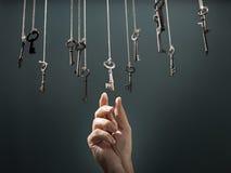 A chave direita Imagens de Stock Royalty Free