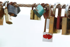 Chave do amor Imagem de Stock